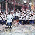 Church Choir Singing - Art Prints & Gifts by Ballet Dance-Artist