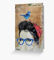 BLUE SPECS Greeting Card