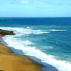 *Sand and Sea at Bells Beach, Vic. Australia* by EdsMum