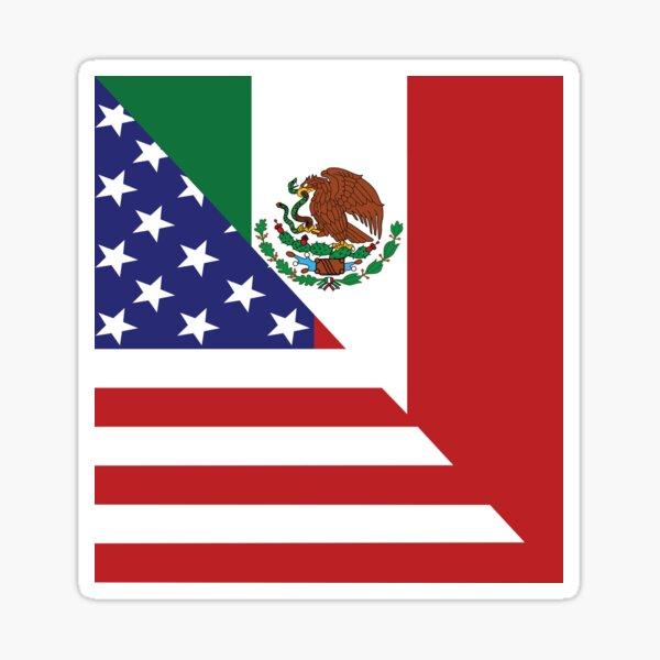 Mexican America Flag Sticker