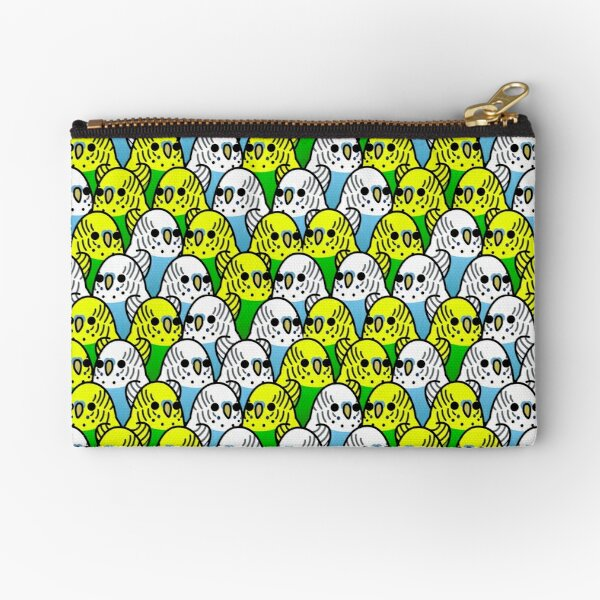 Too Many Birds! - Budgie Squad 1 Zipper Pouch