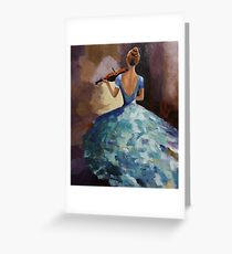 lady playing violin Greeting Card