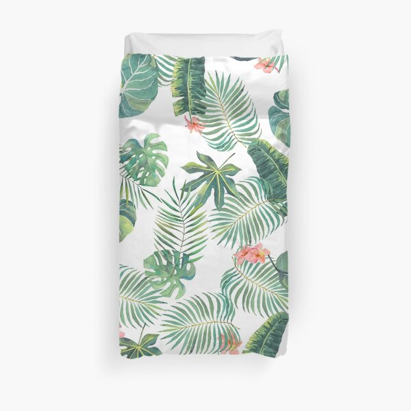 Tropical Leave Pattern Duvet Cover