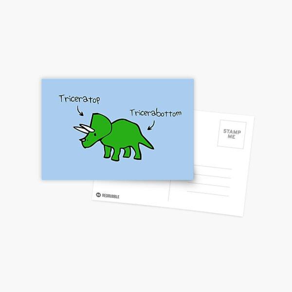 Triceratops Tricerabottom Postcard