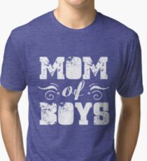 Mom Of Boys Shirt Tri-blend T-Shirt
