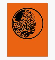 Tiger Silhouette In Tribal Tattoo Style Photographic Print