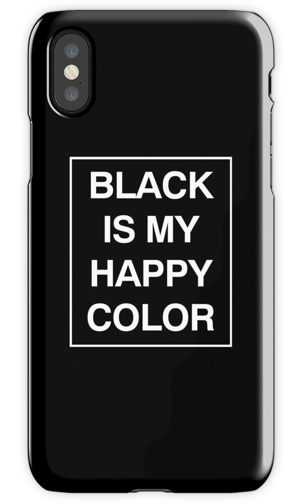 black is my happy color iphone cases skins by smileyna redbubble. Black Bedroom Furniture Sets. Home Design Ideas