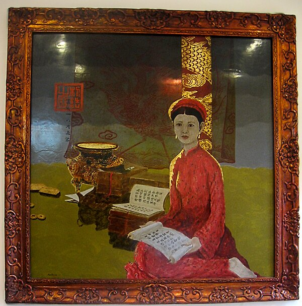Princess -lacquer painting by Bui Huu Hung from Vietnam by Bui Huu Hung Bui Huu Hung