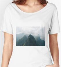 Flying Mountain Explorer - Landscape Photography Women's Relaxed Fit T-Shirt