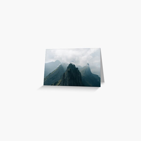 Flying Mountain Explorer - Landscape Photography Greeting Card