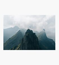 Flying Mountain Explorer - Landscape Photography Photographic Print