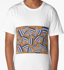 Geometric Graphic Pattern Piles (Mathematical / Structural) Long T-Shirt