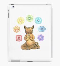 Yoga Cat with Chakras Vinilo o funda para iPad