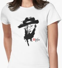 Man with hat BW - Crazy Faces One - Habu-San Design Womens Fitted T-Shirt