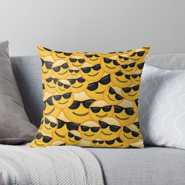 cool emoji Throw Pillow