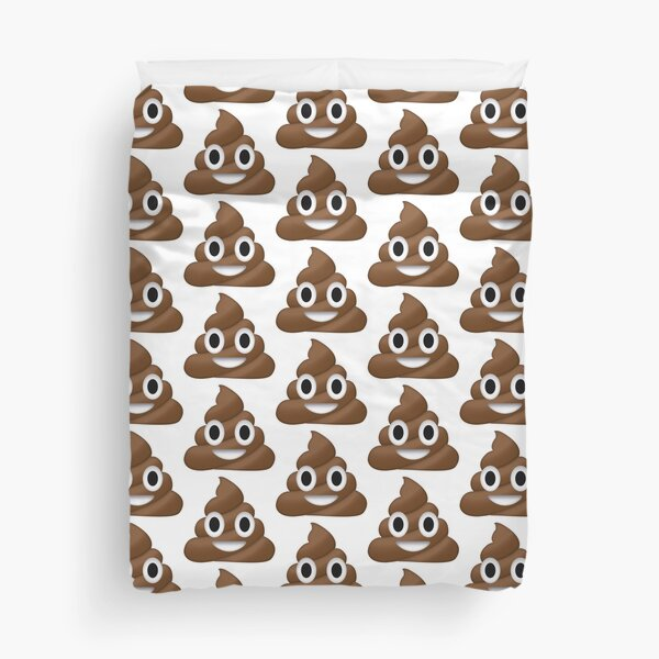 poop emoji Duvet Cover