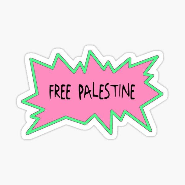 Free Palestine Rugrats Style Sticker