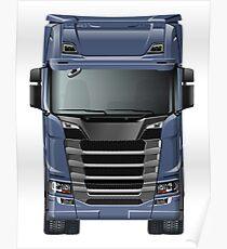 Semi Truck Poster
