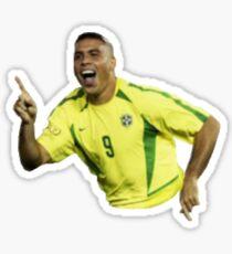 Ronaldo Luis Nazario de Lima #joga bonito #real madrid #brazil Sticker