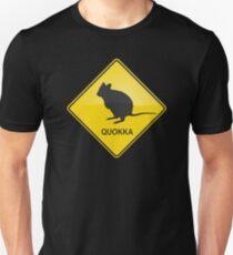 Quokka Warning Sign Slim Fit T-Shirt