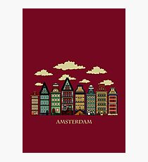 Amsterdam red Photographic Print