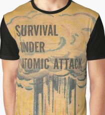 Survival, Atomic, Atomic Bomb, Attack, Poster, 1950 Graphic T-Shirt