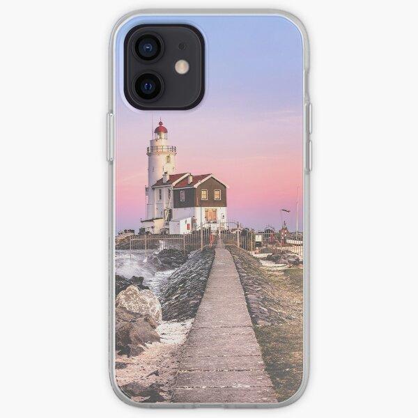 Lighthouse at sunset (Marken) iPhone Soft Case
