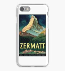 Vintage  Travel Poster restored by me.  by George Pedro iPhone Case/Skin