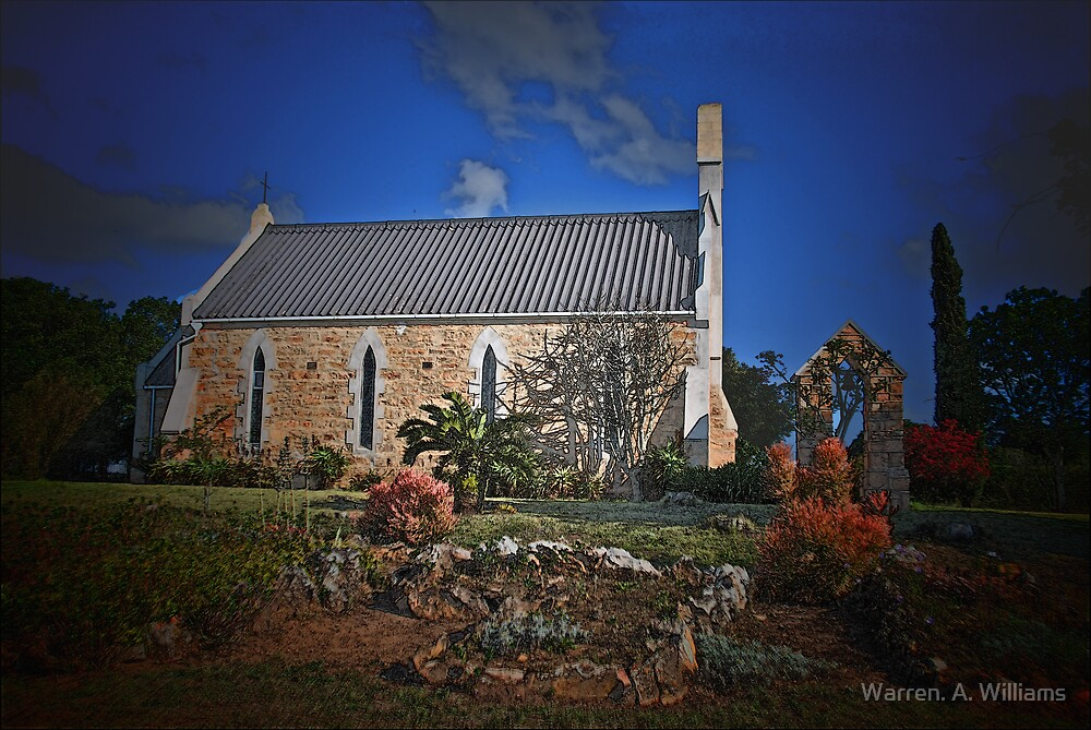 1837 Country Church by Warren. A. Williams