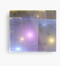Blue Gold Lights Metal Print