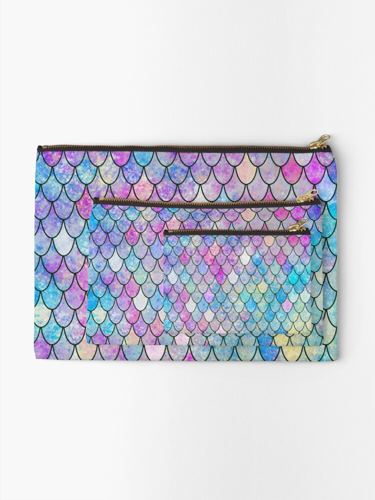 Alternate view of mermaid scales Zipper Pouch