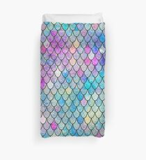 mermaid scales Duvet Cover