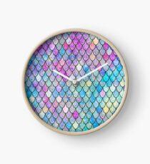 mermaid scales Clock