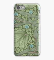Wallpaper sample with Forget-Me-Nots by William Morris iPhone Case/Skin
