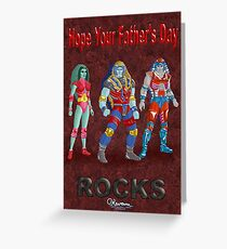 Rocky Father's Day Card by Kevenn T. Smith Greeting Card