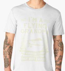 I'm A Flying Grandpa Funny Humor Pilot T-Shirt Men's Premium T-Shirt