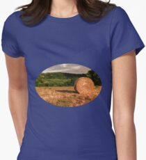 Sunset in the countryside Womens Fitted T-Shirt