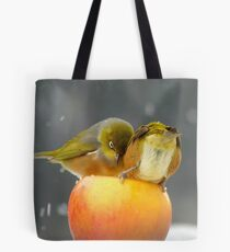 Alright...Alright... Come On Shove Over!!! - Silver-Eyes - NZ Tote Bag
