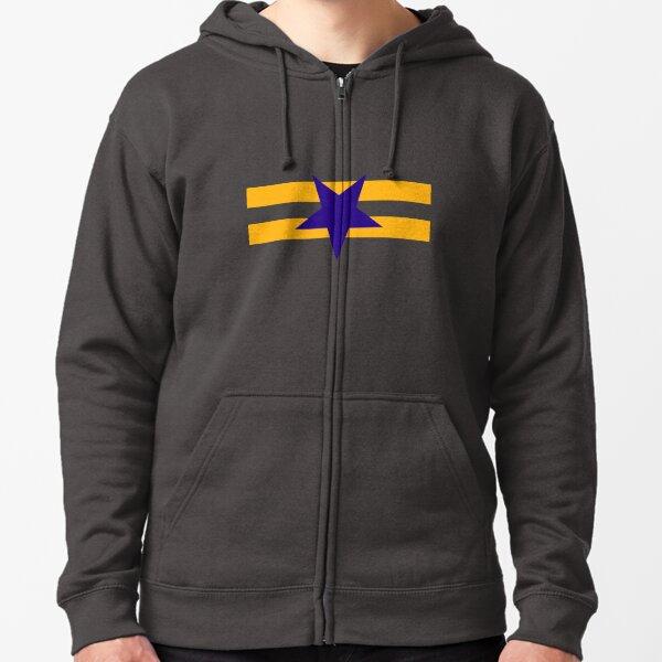 Herren Strick Kapuzen Jacke Military Army Abzeichen Zip-Hoodie Sweat Shirt Wow