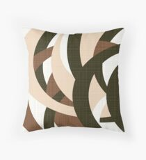 Simple abstract pattern. 1 Brown, beige, coffee, white Throw Pillow
