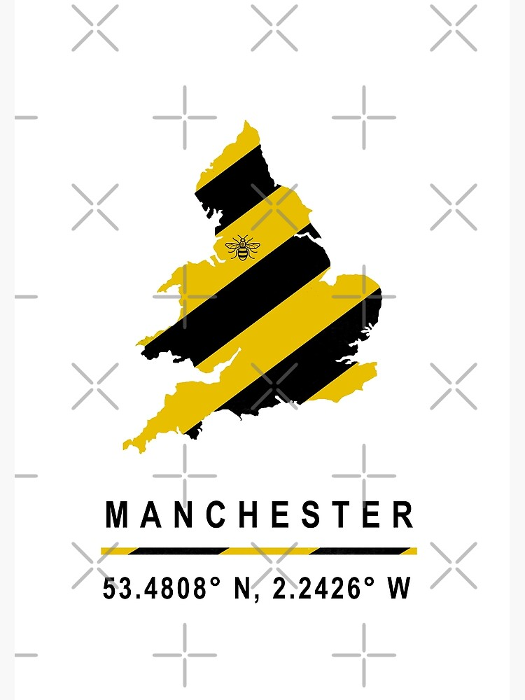 Manchester GPS Bee Map by RobinBegins