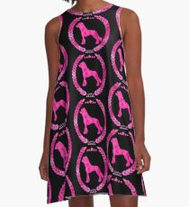 Chinese Crested Camo Pink A-Line Dress