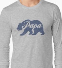 Vintage Papa Bear Father's Day Gift Long Sleeve T-Shirt