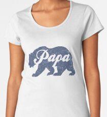 Vintage Papa Bear Father's Day Gift Women's Premium T-Shirt