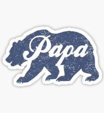 Vintage Papa Bear Father's Day Gift Sticker