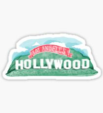 watercolor hollywood sign Sticker