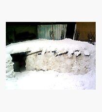 IGLOO SNOW HOUSE  Photographic Print
