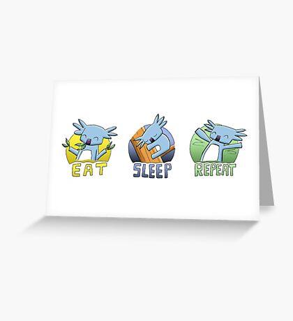Cute Koala - Eat Sleep Repeat Greeting Card