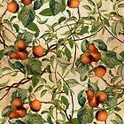 Vintage Fruit Pattern by Burcu Korkmazyurek