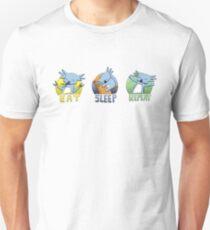 Cute Koala - Eat Sleep Repeat Slim Fit T-Shirt
